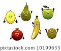 pear, lemon, cartoon 10199633