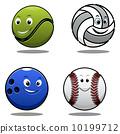 tennis, mascot, ball 10199712