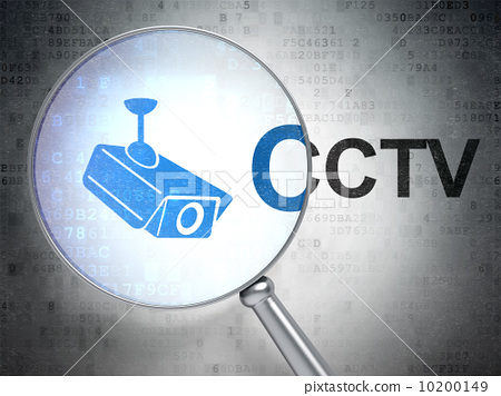 Security concept: Cctv Camera and CCTV with optical glass 10200149