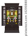 Buddhist altar illustration 10200880