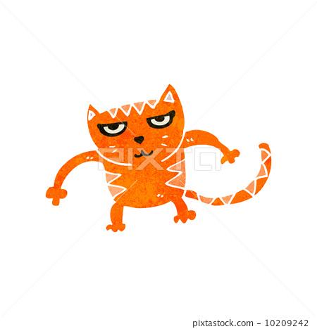 retro cartoon cat fighting 10209242