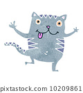 retro cartoon funny cat 10209861