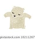cute retro cartoon polar bear 10211267