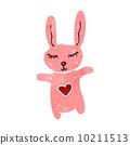 retro cartoon cute rabbit 10211513