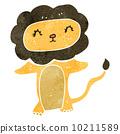 retro cartoon lion 10211589