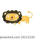 retro cartoon lion 10212330