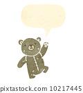 cute retro cartoon teddy bear 10217445