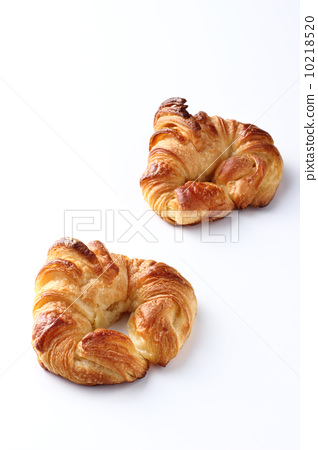 Croissant on white background 10218520