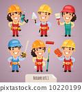 Builders Cartoon Characters Set1.1 10220199
