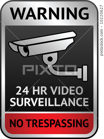 Video surveillance label 10220627