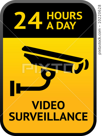 Video surveillance sign 10220628