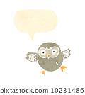 retro cartoon cute little owl 10231486