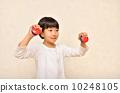 หญิงสาวที่เล่นกับ castanet 10248105