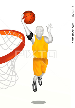 Basketball Player About to Score 10260646