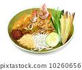 Pad Thai Noodles with Shrimps 10260656
