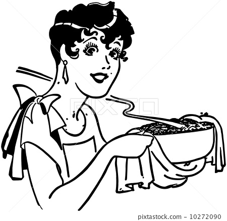 Lady With Casserole 10272090
