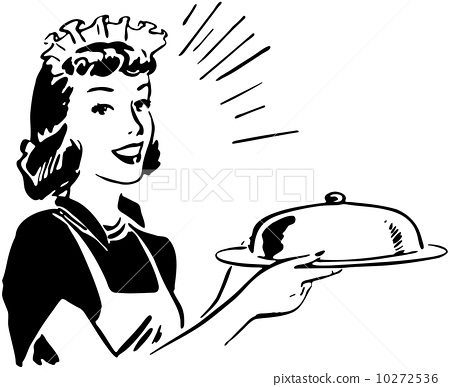 Waitress With Covered Server 10272536