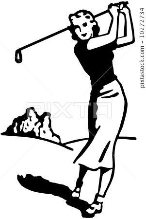 Woman Golfer 4 10272734