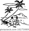 Couple Under Palm Trees 10273069
