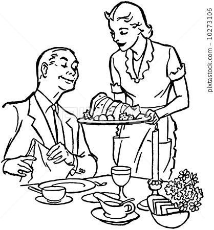 Serving Dinner 10273106
