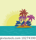 island, landscape, vector 10274390