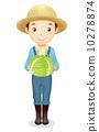 草帽的男性例證 10278874