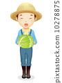 草帽的男性例證 10278875