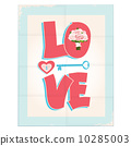 Love greeting card or poster design 10285003