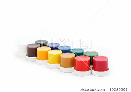 cans of paint on a white background. 10286391