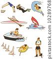 cartoon water sport icon 10289768