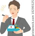お弁当を食べるビジネスマン 10290325