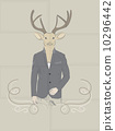 Hand Drawn Vector Illustration of Deer in a suit 10296442