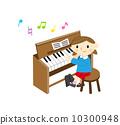 A child playing an organ 10300948