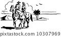 Couple On Horseback 10307969