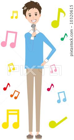 男性便衣唱歌 10320615