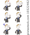Young businessmen 6 kinds of gestures and poses 10322462