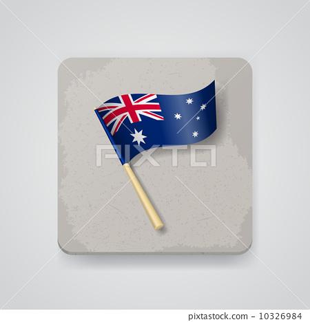 Australia flag, vector icon 10326984