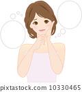 女性痤瘡濕疹粗糙皮膚美容美容受損 10330465