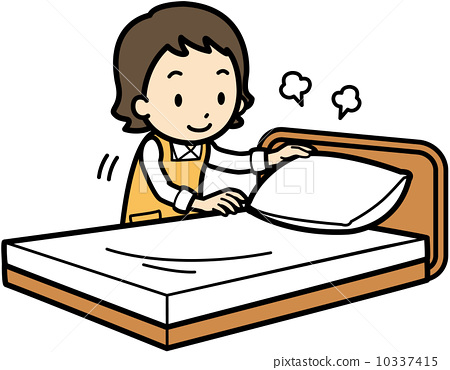 bed making, vectors, vector - Stock Illustration [10337415] - PIXTA