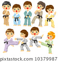 cartoon Karate Player icon 10379987