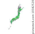 修剪綠色日本列島 10382520