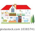 矢量 房子計劃 房屋 10383741
