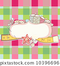Pretty card with sewing accesories 10396696