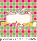 Card with sewing accesories 10396697