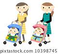 嬰兒推車和母親 10398745