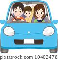 和家人一起開車 10402478
