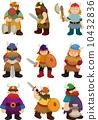 cartoon Viking Pirate icon set 10432836