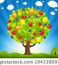 Fruit Tree With Landscape 10433809