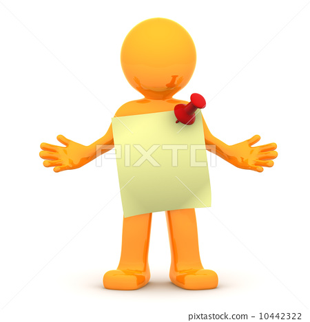 3d person with sticky note 10442322
