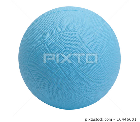 Dodgeball in blue color on white background 10446601
